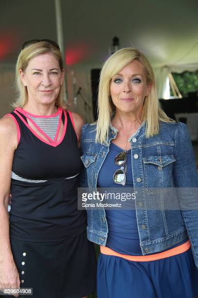 Chris Evert and Jane Krakowski attend the Third Annual Johnny Mac Tennis Project Pro Am Event at Sportime on August 26 2017 in Amagansett New York