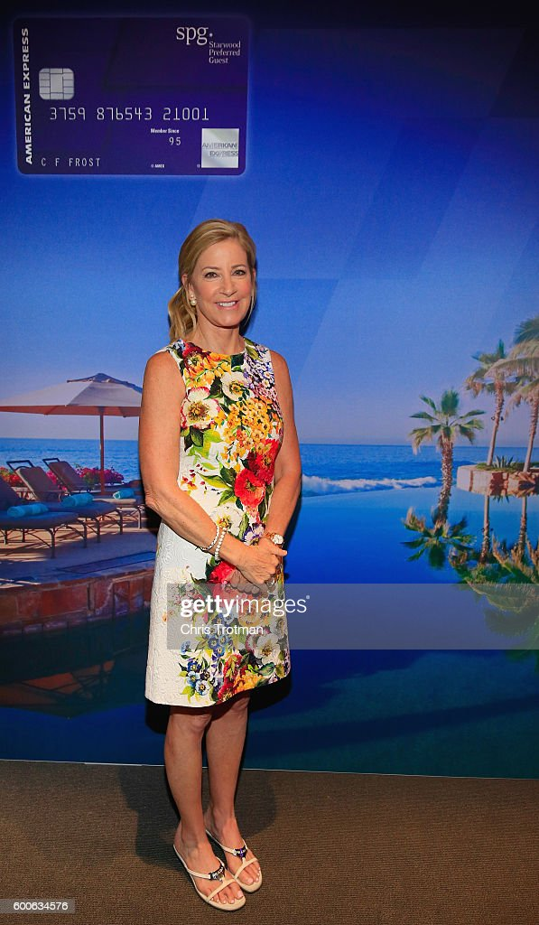 Chris Evert, former professional tennis player, attends The SPG Amex Card Members-Only Event on Day Ten of the 2016 US Open at the USTA Billie Jean King National Tennis Center on September 7, 2016 in the Queens borough of New York City.