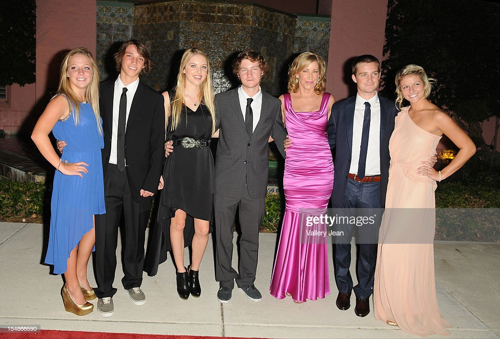 Chris Evert her sons and girlfriend arrive at 23rd Annual Chris Evert/Raymond James Pro-Celebrity Tennis Classic Gala at Boca Raton Resort on October 27, 2012 in Boca Raton, Florida.