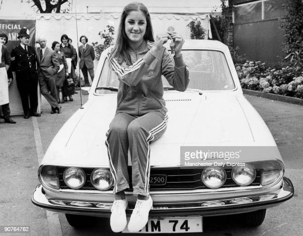 Chris Evert holds the keys to a Triumph 2500 The Daily Express newspaper are running a competition to win 6 cars Christine Marie Evert better known...