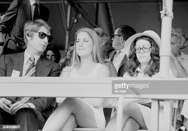 Chris Evert in the stands of a tennis match circa 1970 New York