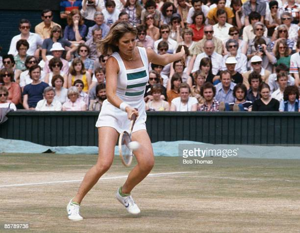 Chris Evert Lloyd of the USA during the Wimbledon Lawn Tennis Championships held in London England during July 1979