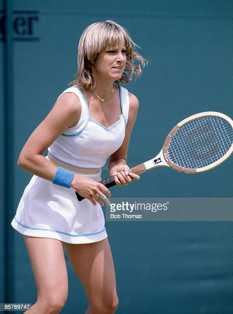 Chris Evert Lloyd of the USA during the Wimbledon Lawn Tennis Championships held in London England during July 1980