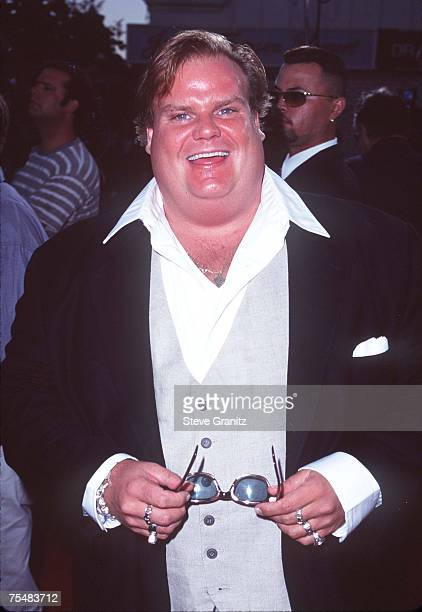 Chris Farley at the Mann's Village Theatre in Westwood California