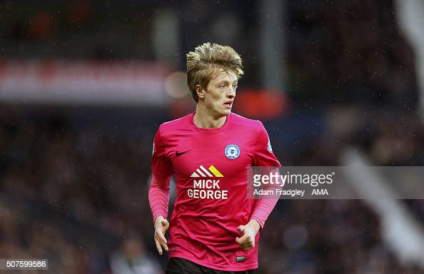 Chris Forrester of Peterborough United during the Emirates FA Cup match between West Bromwich Albion and Peterborough United at The Hawthorns on...