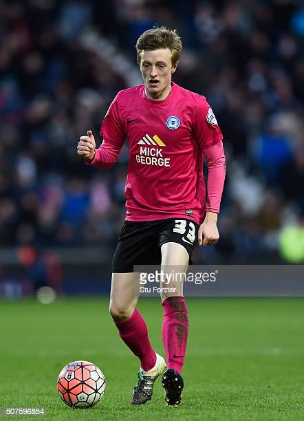 Chris Forrester of Peterborough United in action during The Emirates FA Cup Fourth Round match between West Bromwich Albion and Peterborough United...