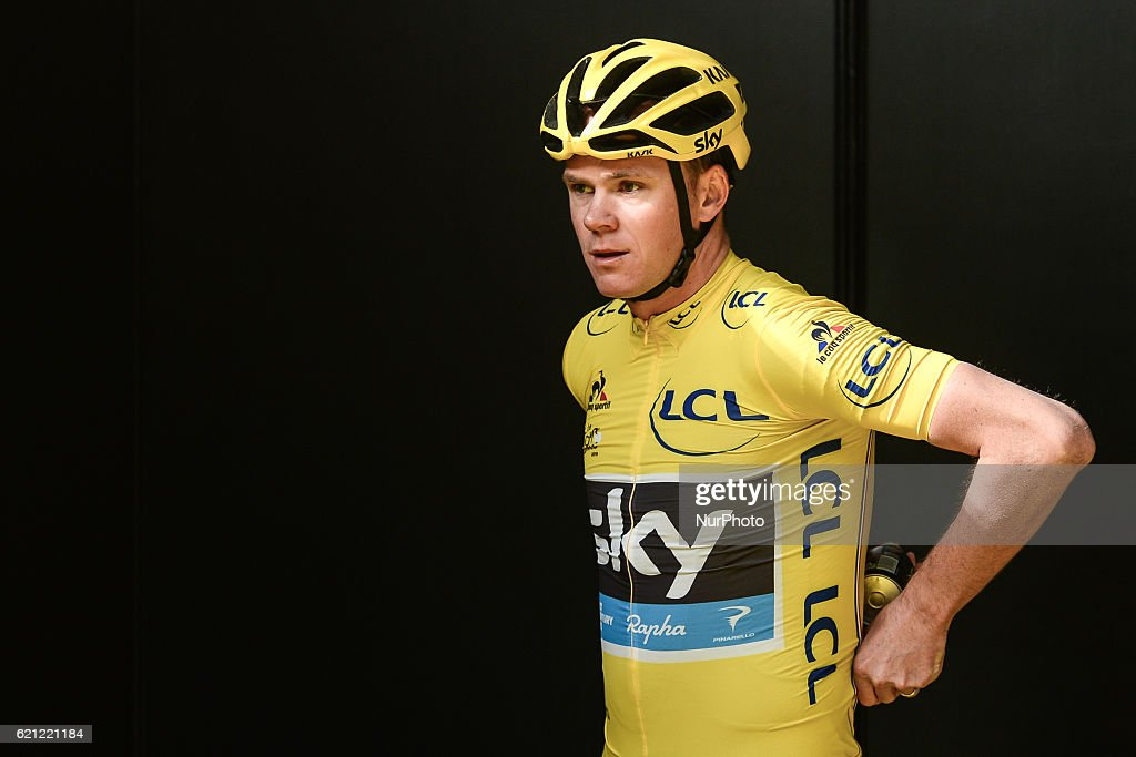 Chris Froome, a British professional road racing cyclist for UCI ProTeam Team Sky, ahead of the race, at the fouth edition of the Tour de France Saitama Criterium. On Saturday, 29th October 2016, in Saitama, Japan.