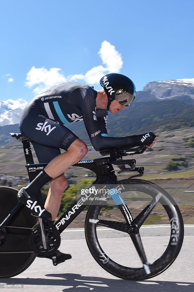 <a gi-track='captionPersonalityLinkClicked' href=/galleries/search?phrase=Chris+Froome&family=editorial&specificpeople=5428054 ng-click='$event.stopPropagation()'>Chris Froome</a> (GBR) during stage 3 of the Tour de Romandie on April 29, 2016 in Sion, Switzerland.