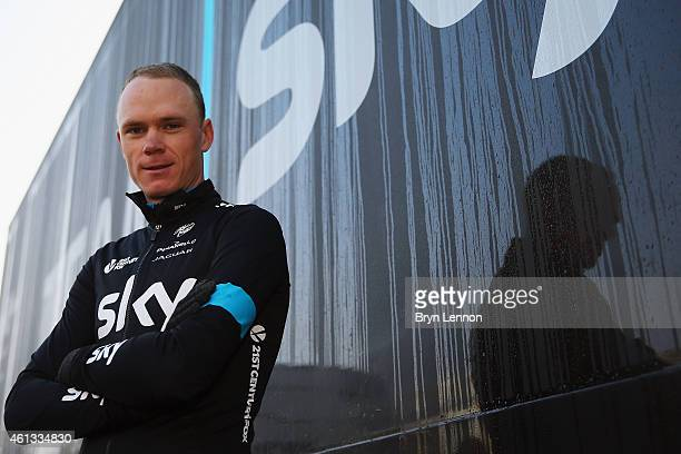Chris Froome of Great Britain and Team SKY attends a Team SKY Media Day on January 11 2015 in Alcudia Spain