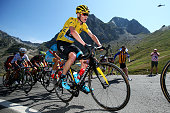 Chris Froome of Great Britain and Team Sky climbs the Col du Tourmalet during stage eleven of the 2015 Tour de France a 188 km stage between Pau and...