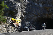 Chris Froome of Great Britain and Team Sky during the 37km Individual Time Trial stage thirteen of Le Tour de France from BourgSaintAndeol to La...