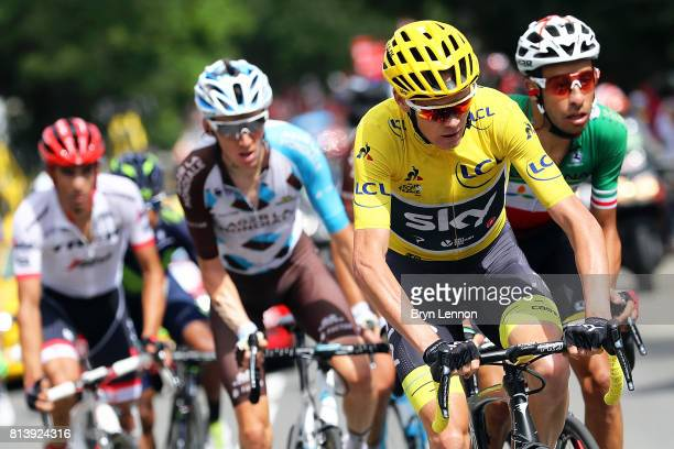 Chris Froome of Great Britain and Team SKY in action during stage 12 of the 2017 Le Tour de France a 2145km stage from Pau to Peyragudes on July 13...
