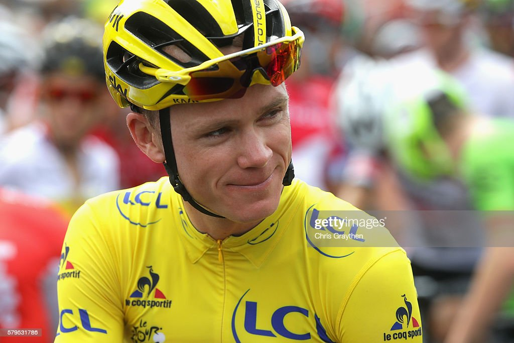 Chris Froome of Great Britain and Team Sky looks on prior to stage twenty one of the 2016 Le Tour de France, from Chantilly to Paris Champs-Elysees on July 24, 2016 in Paris, France.