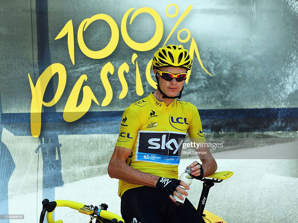 <a gi-track='captionPersonalityLinkClicked' href=/galleries/search?phrase=Chris+Froome&family=editorial&specificpeople=5428054 ng-click='$event.stopPropagation()'>Chris Froome</a> of Great Britain and Team Sky Procycling looks on ahead of stage twenty of the 2013 Tour de France, a 125KM road stage from Annecy to Annecy-Semnoz, on July 20, 2013 in Annecy, France.