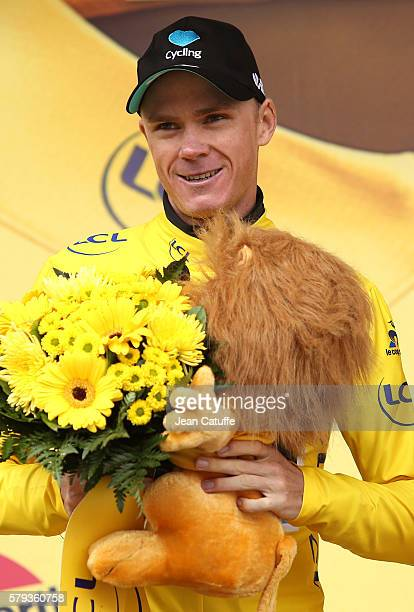 Chris Froome of Great Britain and Team Sky retains the leader's yellow jersey following stage 20 of the Tour de France 2016 a stage of 1465 km...