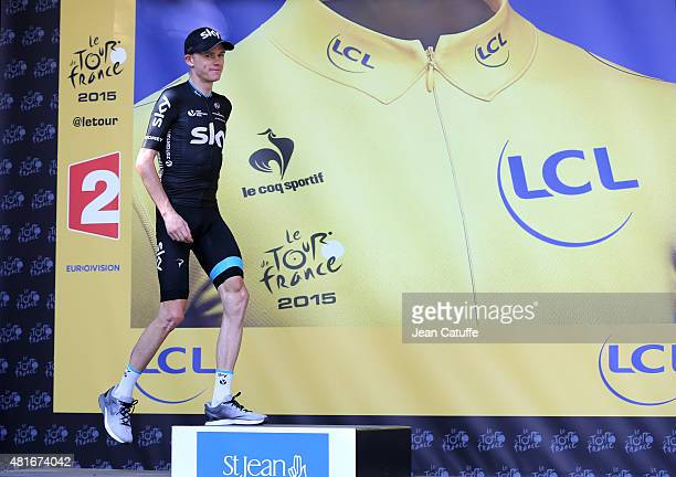 Chris Froome of Great Britain and Team Sky retains the overall leader's yellow jersey following stage eighteenth of the 2015 Tour de France a 1865 km...