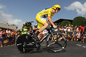 Chris Froome of Great Britain and Team Sky rides during stage eighteen of the 2016 Le Tour de France from Sallanches to Megeve on July 21 2016 in...