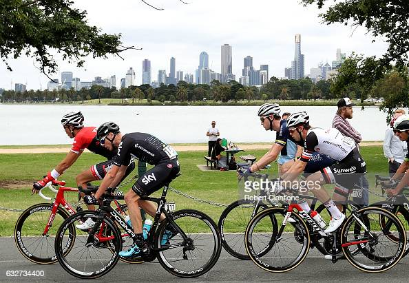 Chris Froome of Great Britain and Team Sky rides during the 2017 Cadel Evans Great Ocean Road Race on January 26 2017 in Melbourne Australia