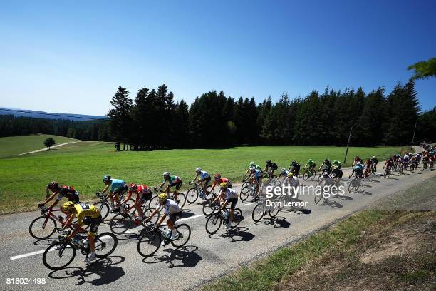 Chris Froome of Great Britain and Team SKY rides in the peloton on stage sixteen of teh 2017 Tur de France a 165km road stage from Le Puy enVelay to...