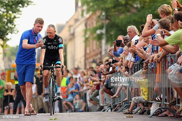 Chris Froome of Great Britain and Team SKY stops for a photo during the 2015 Tour de France Team Presentation on July 2 2015 in Utrecht The 102nd...