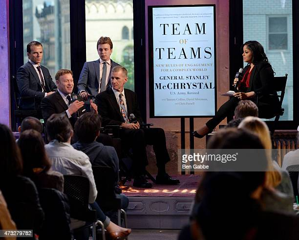 Chris Fussell David Silverman Tatum Collins General Stanley McChrystal and Nancy Redd speak at AOL Build at AOL Studios In New York on May 14 2015 in...