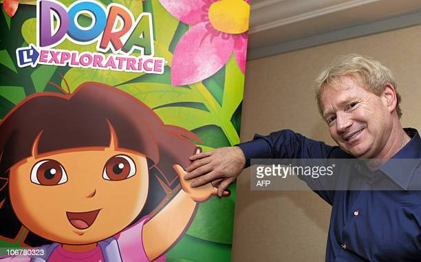 Chris Gifford who cocreated the children cartoon series 'Dora the Explorer' poses before an interview in a Paris hotel on November 8 2010 AFP PHOTO...