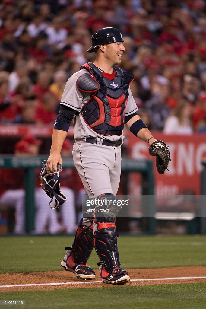 <a gi-track='captionPersonalityLinkClicked' href=/galleries/search?phrase=Chris+Gimenez&family=editorial&specificpeople=4959066 ng-click='$event.stopPropagation()'>Chris Gimenez</a> #38 of the Cleveland Indians smiles during the third inning of the game against the Los Angeles Angels of Anaheim at Angel Stadium of Anaheim on June 11, 2016 in Anaheim, California.