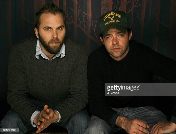 Chris Gorak and Rory Cochrane during 2006 Sundance Film Festival 'Right At Your Door' Portraits at HP Portrait Studio in Park City Utah United States