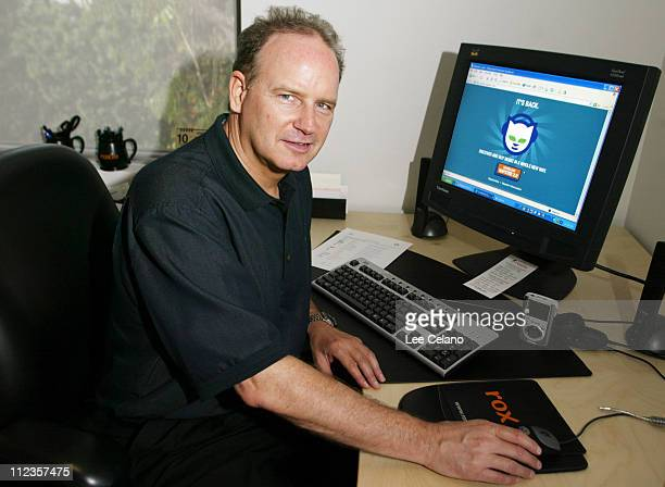 Chris Gorog Chairman and CEO of Roxio is shown at his desk using the newlylaunched Napster 20 music service in Los Angeles Wednesday Oct 29 the first...