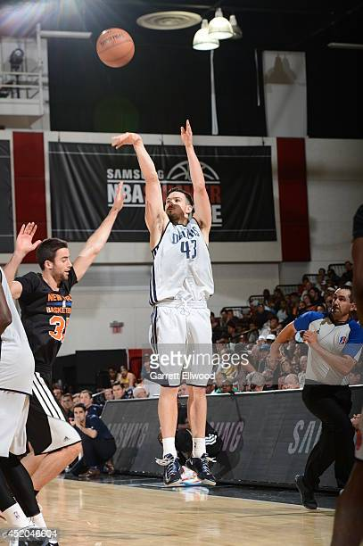 Chris Goulding of the Dallas Mavericks shoots the ball against the New York Knicks at the Samsung NBA Summer League 2014 on July 11 2014 at the Cox...