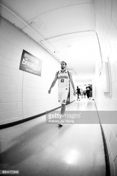 Chris Goulding of United walks in the players tunnel prior to the round 19 NBL match between the New Zealand Breakers and Melbourne United at North...
