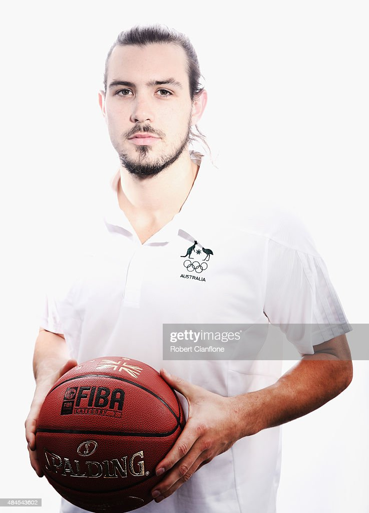 Chris Goulding poses during an Australian Boomers Basketball team portrait session at The Blackman Hotel on August 20, 2015 in Melbourne, Australia.