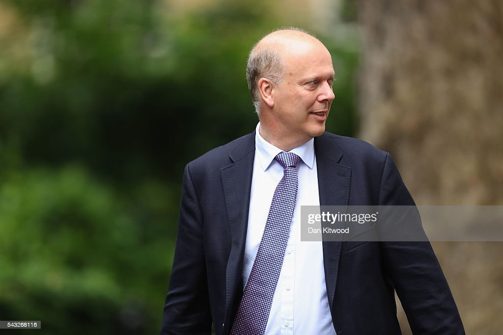 Chris Grayling, Lord President of the Council, Leader of the House of Commons arrives for a cabinet meeting at Downing Street on June 27, 2016 in London, England. British Prime Minister David Cameron is due to chair an emergency Cabinet meeting this morning, after Britain voted to leave the European Union. Chancellor George Osborne spoke at a press conference ahead of the start of financial trading and outlining how the Government will 'protect the national interest' after the UK voted to leave the EU.