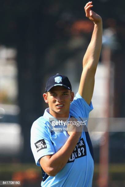 Chris Green of Cricket NSW stretchesl during the Cricket NSW Intra Squad Match at Hurstville Oval on September 2 2017 in Sydney Australia