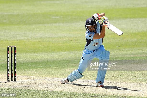 Chris Green of the Blues bats during the Matador BBQs One Day match between South Australia and New South Wales at Drummoyne Oval on October 12 2016...