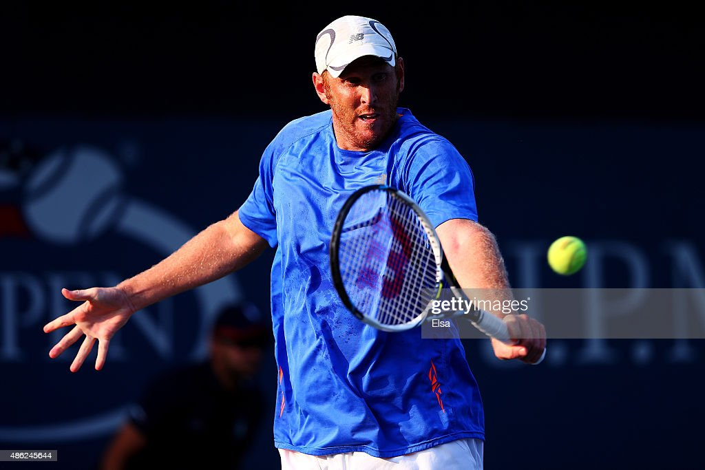 <a gi-track='captionPersonalityLinkClicked' href=/galleries/search?phrase=Chris+Guccione+-+Tennisspieler&family=editorial&specificpeople=217596 ng-click='$event.stopPropagation()'>Chris Guccione</a> of Australia on Day Three of the 2015 US Open at the USTA Billie Jean King National Tennis Center on September 2, 2015 in the Flushing neighborhood of the Queens borough of New York City.