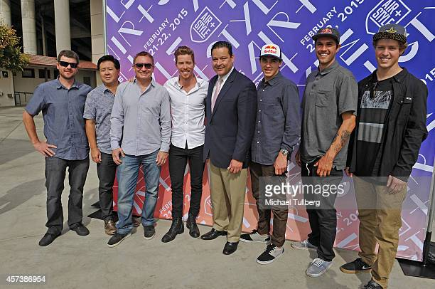 Chris Gunnarson Shaun White Enterprises COO Keith Yokomoto Andrew Hourmont Olympic snowboarder Shaun White Pasadena City Council member Victor Gordo...