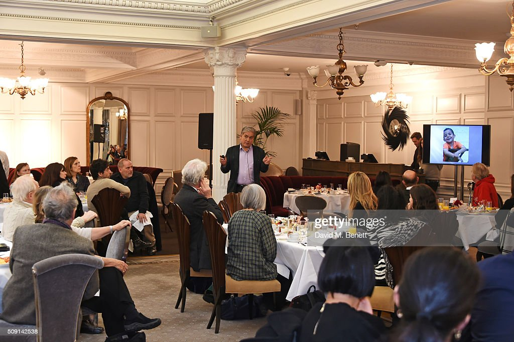 Chris Gunness, chief spokesperson for the United Nations Relief and Works Agency for Palestine Refugees, speaks at the Hoping Breakfast for Palestinian refugee children at Harrods on February 9, 2016 in London, England.