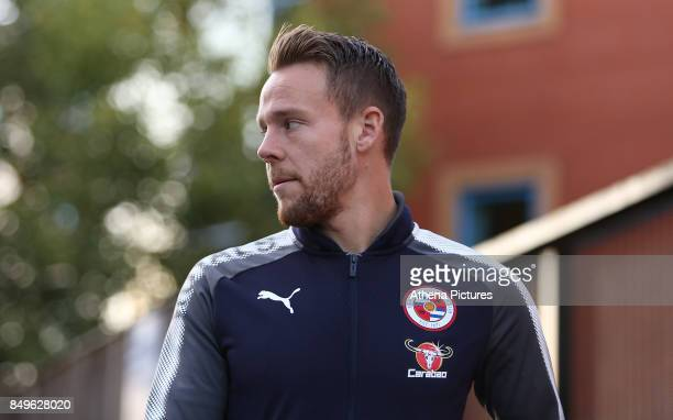 Chris Gunter of Reading arrives at Madejski Stadium prior to kick off during the Carabao Cup Third Round match between Reading and Swansea City at...