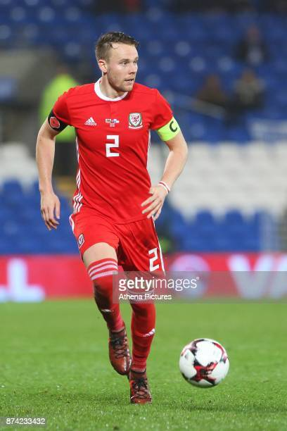 Chris Gunter of Wales during the International Friendly match between Wales and Panama at The Cardiff City Stadium on November 14 2017 in Cardiff...