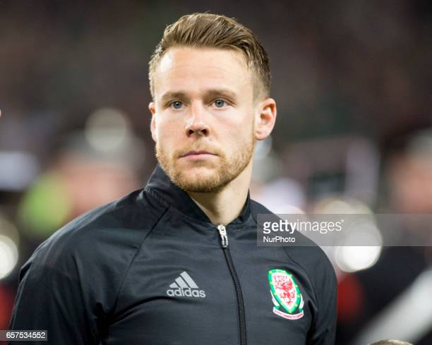 Chris Gunter of Wales pictured before the 2018 FIFA World Cup Qualifying Round Group D match between Republic of Ireland and Wales at Aviva Stadium...