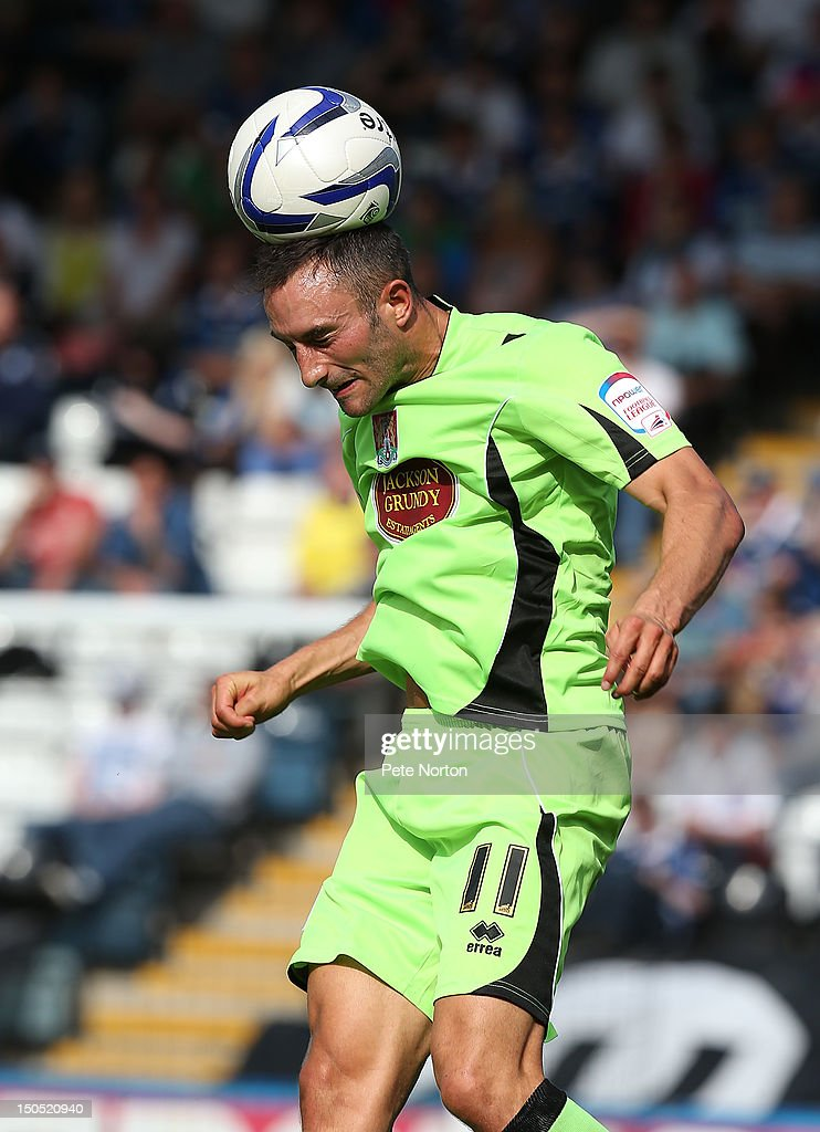 Chris Hackett of Northampton Town in action during the npower League Two match between Rochdale and Northampton Town at Spotland Stadium on August 18, 2012 in Rochdale, England.