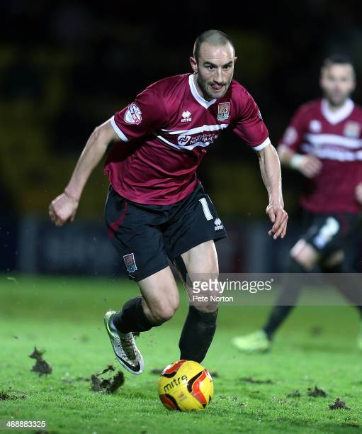 Chris Hackett of Northampton Town in action during the Sky Bet League Two match between Torquay United and Northampton Town at Plainmoor Ground on...