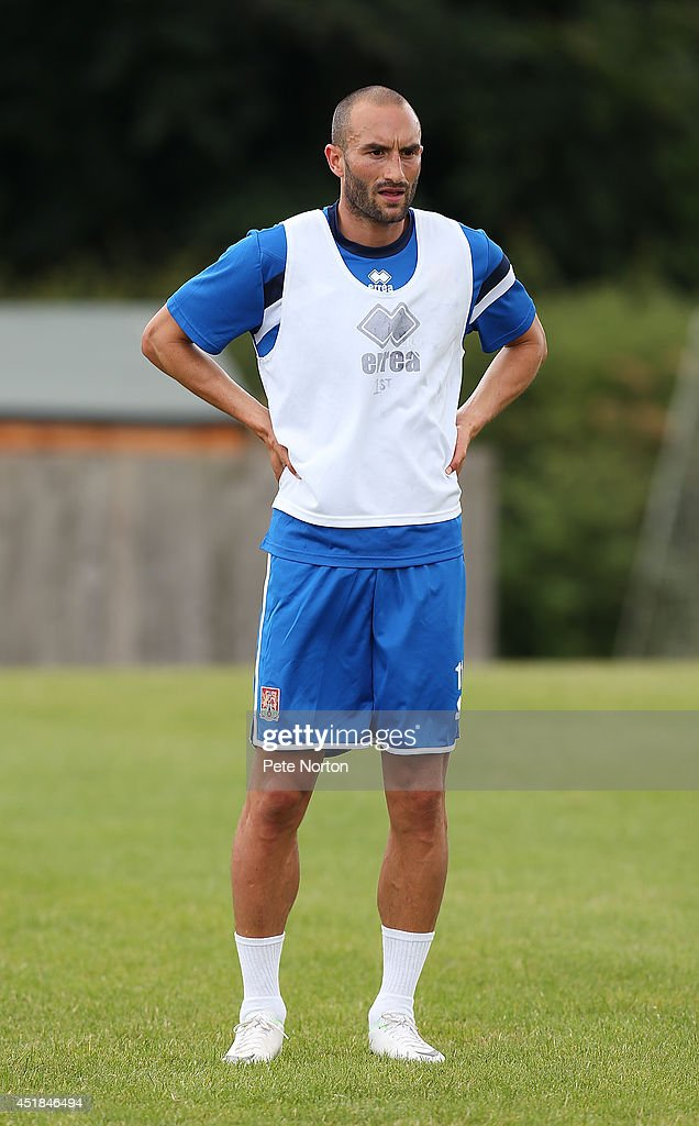 Chris Hackett of Northampton Town looks on during a training session at Moulton College on July 8, 2014 in Northampton, United Kingdom.