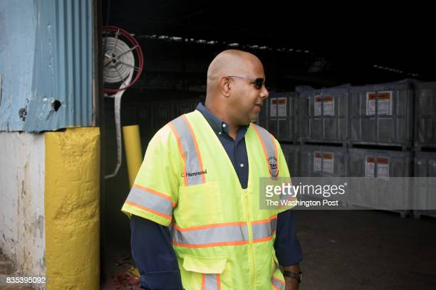 Chris Hammon financial secretary of ILA 3000 at The Port of New Orleans in New Orleans Louisiana on June 27 2017