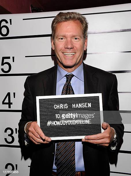 Chris Hansen attends the 'Dateline' 20th Anniversary Mystery Party at Griffou on October 4 2011 in New York City
