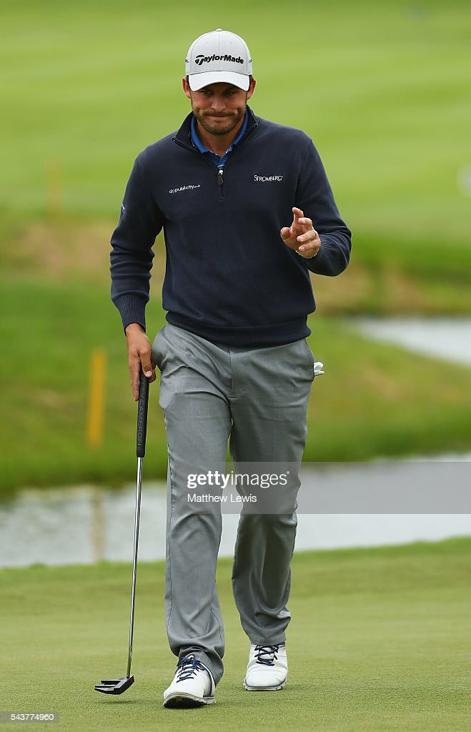 <a gi-track='captionPersonalityLinkClicked' href=/galleries/search?phrase=Chris+Hanson+-+Golfer&family=editorial&specificpeople=15203701 ng-click='$event.stopPropagation()'>Chris Hanson</a> of England looks on during day one of the 100th Open de France at Le Golf National on June 30, 2016 in Paris, France.