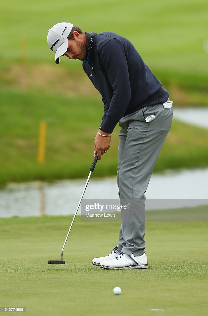 <a gi-track='captionPersonalityLinkClicked' href=/galleries/search?phrase=Chris+Hanson+-+Golfer&family=editorial&specificpeople=15203701 ng-click='$event.stopPropagation()'>Chris Hanson</a> of England makes a putt during day one of the 100th Open de France at Le Golf National on June 30, 2016 in Paris, France.