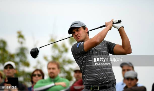 Chris Hanson of England on the 11th tee during the third round of the DD REAL Czech Masters at Albatross Golf Resort on September 2 2017 in Prague...