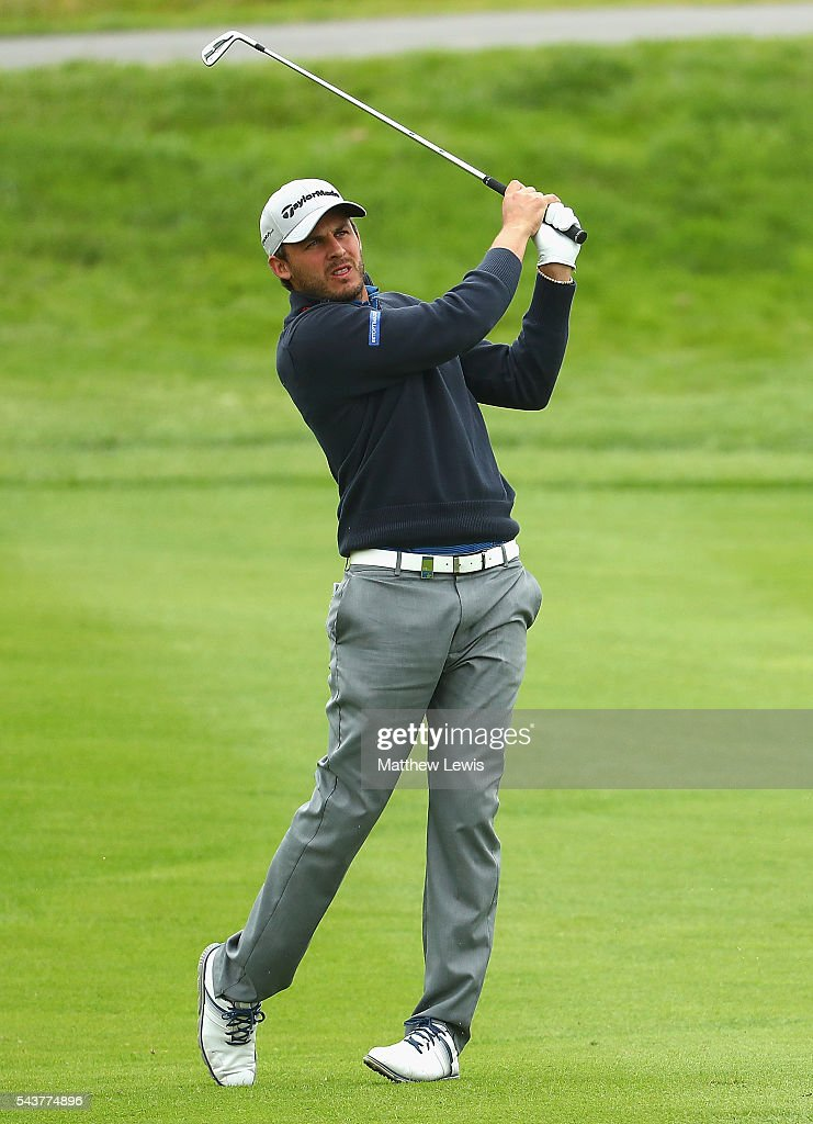 <a gi-track='captionPersonalityLinkClicked' href=/galleries/search?phrase=Chris+Hanson+-+Golfer&family=editorial&specificpeople=15203701 ng-click='$event.stopPropagation()'>Chris Hanson</a> of England plays a shot from the fairway during day one of the 100th Open de France at Le Golf National on June 30, 2016 in Paris, France.